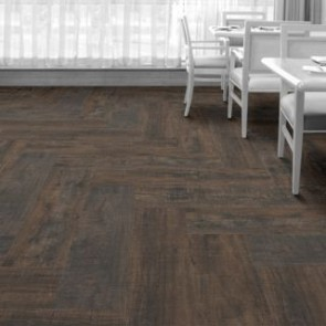 Interface Level Set Textured Woodgrains 404 Distressed Black Walnut